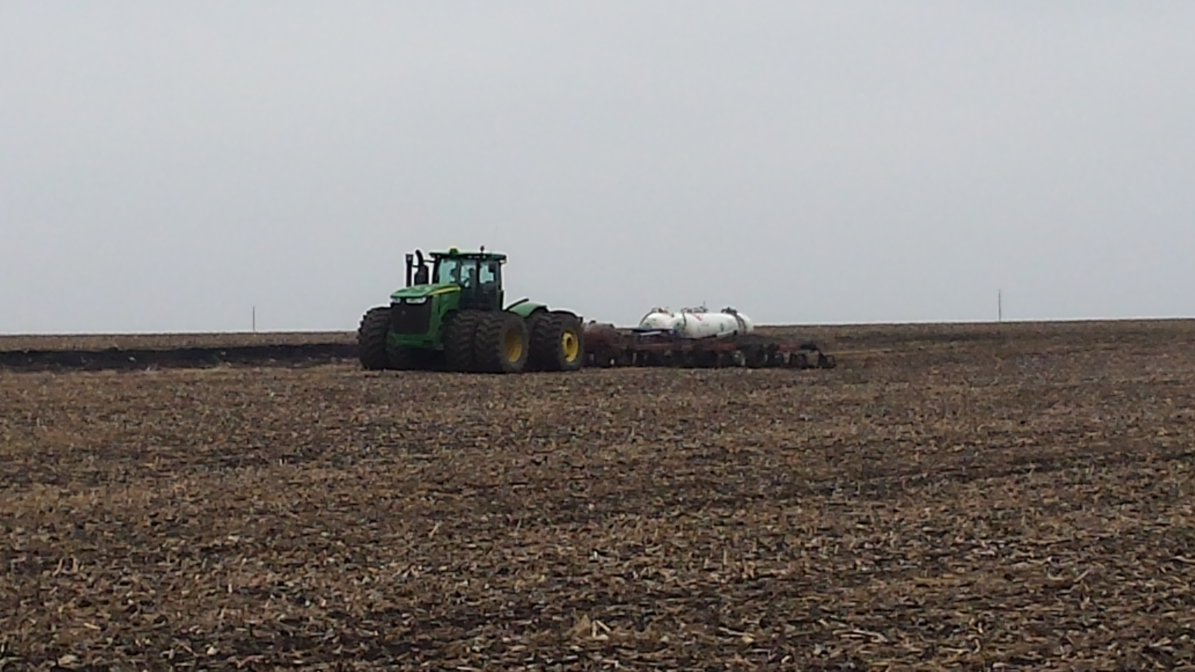 NH3 being applied.